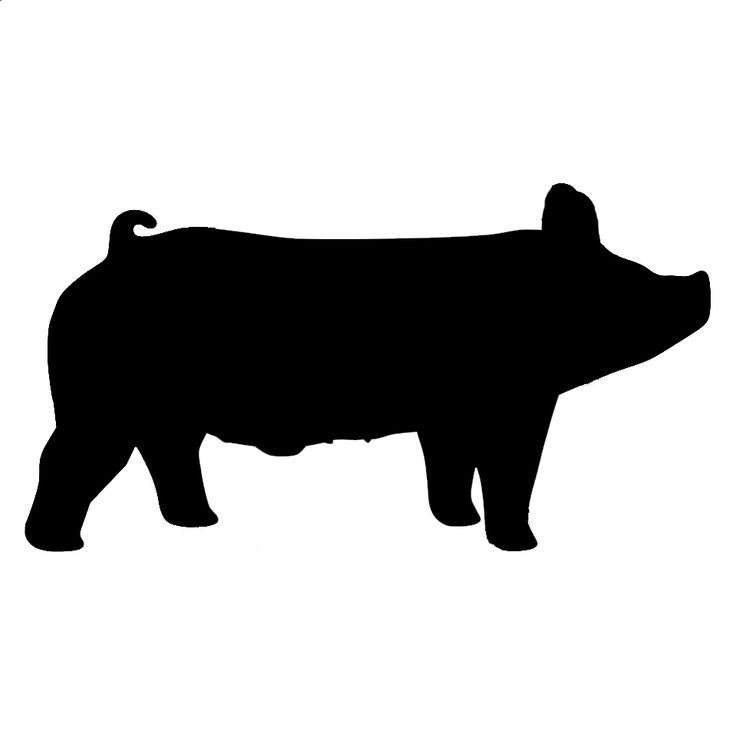 Show Pig Silhouette #2 | Crafts | Showing livestock, Pig ...