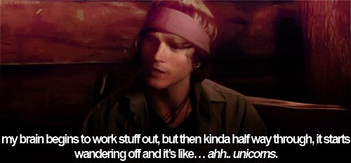 Dougie Poynter,McFly Quote (About brain, gifs, unicorns, wandering off)