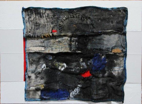 タイトル   :  祝祭  素材     :  パネルの上に厚紙、布、糸、アクリル、油彩 コンテ等サイズ    :  縦24.3cm   横33.5cm  幅...