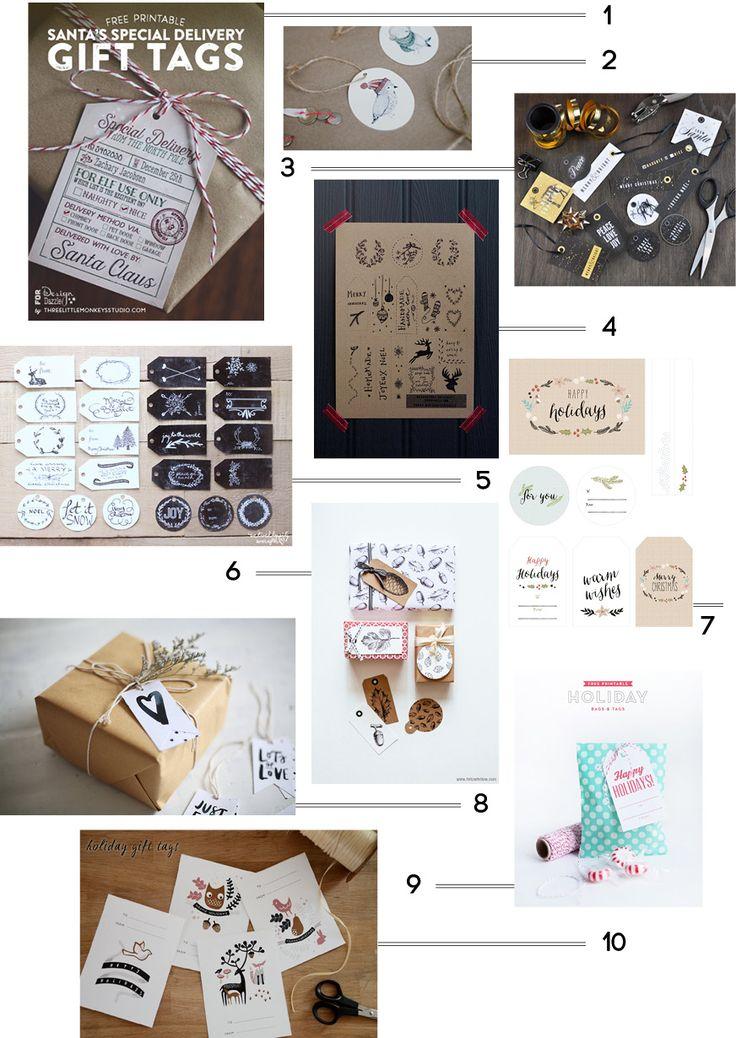 10 étiquettes cadeaux à imprimer !