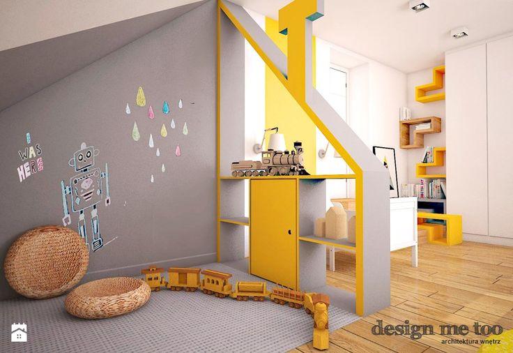 image de concevoir moi aussi - DOM Lesznowola - la chambre de grand enfant pour un garçon pour un enfant en bas âge, style moderne