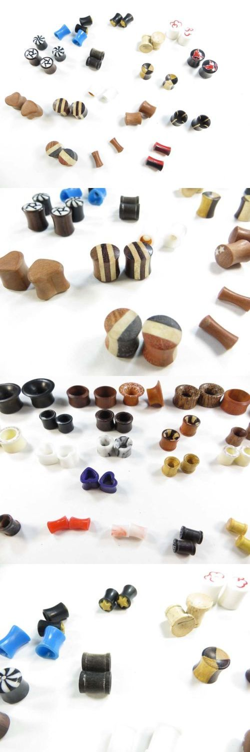 Other Wholesale Body Jewelry 51011: Wholesale Bali Handcrafted 10 Pairs Small Gauge Ear Plugs Ear Tunnels Earlets BUY IT NOW ONLY: $30.0