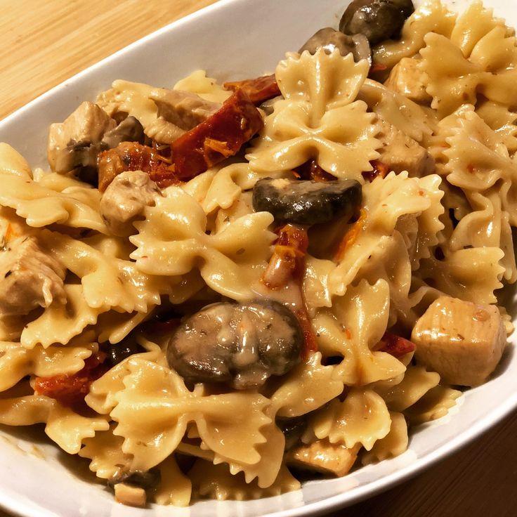 Instant Pot Creamy Chicken Marsala Pasta | Pressure Luck Cooking