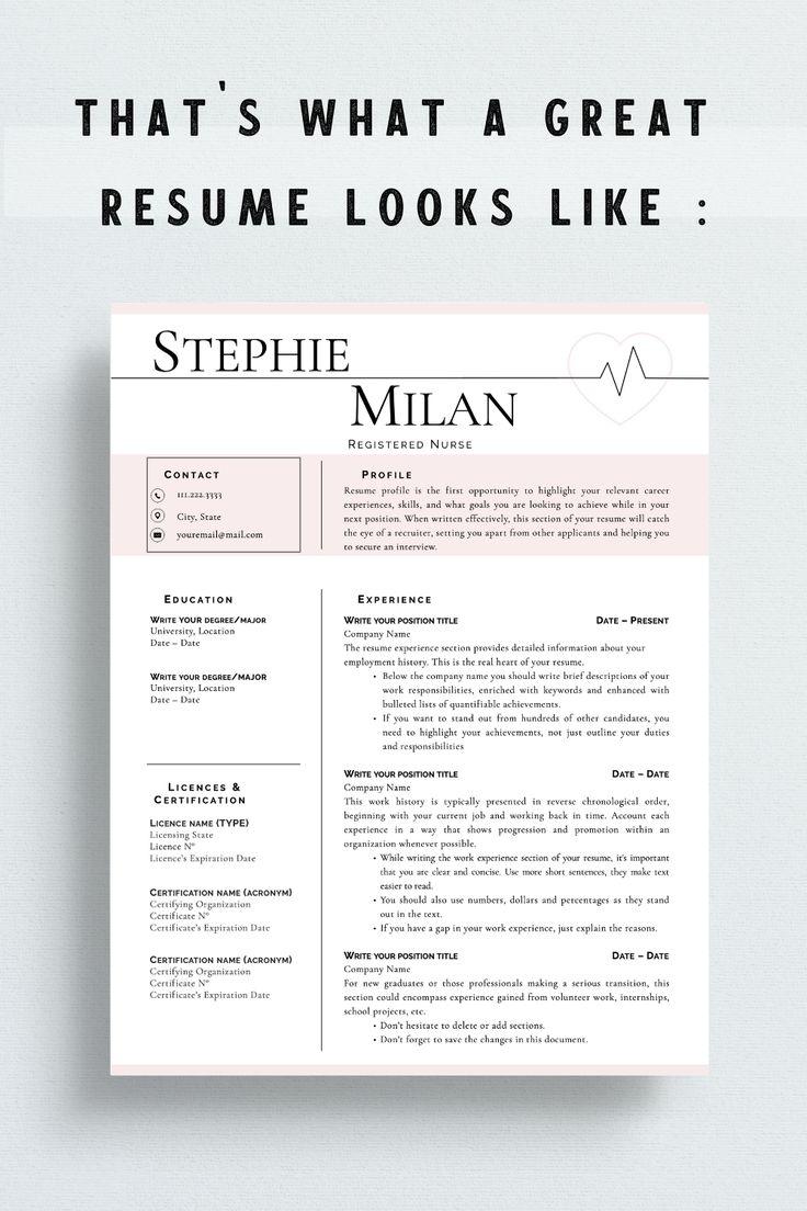 Nurse Resume Template, Simple Nursing Resume Template for