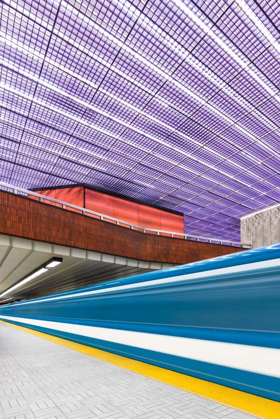 Chris Forsyth's Photographs Capture The Architectural Beauty Of Montreal's Metro System