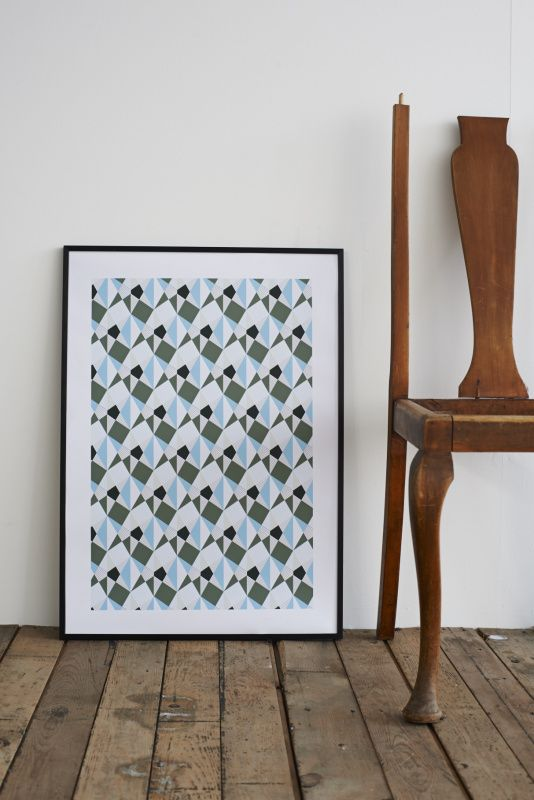 Hand screen printed onto beautifully textured paper made in England.