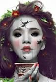 Broken doll make-up