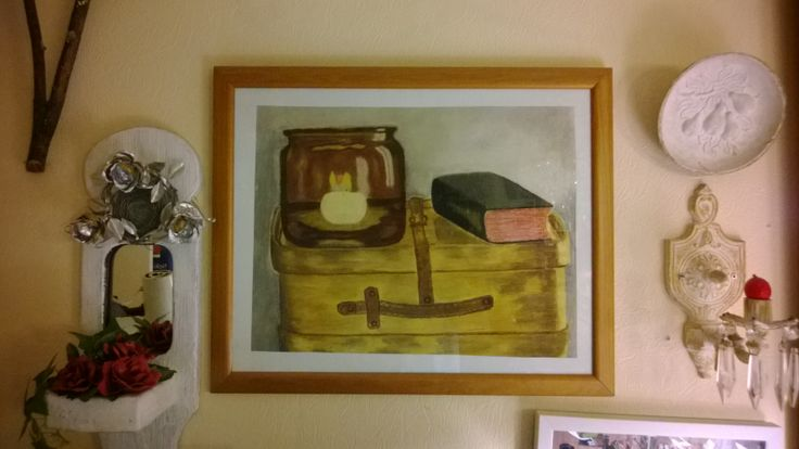 This still life was done in 1975.
