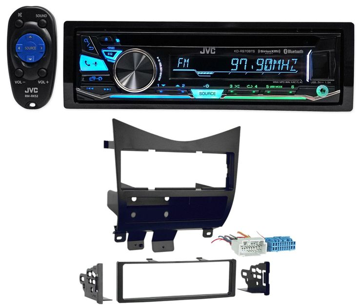 2003-2007 Honda Accord JVC Car Stereo CD Player/Receiver w/Bluetooth+USB+Pandora. Detachable face with 12-digit LCD single-line display with 3-zone variable color display. Auto dimmer and 32-step brightness controls for illuminated buttons and display. remote control. Smartphone Features: Built-in Bluetooth for hands-free calling and audio streaming. Includes dual phone connection and automatic pairing for iPhone and Android. Android Open Accessory (AOA) 2.0 enables control and charging…