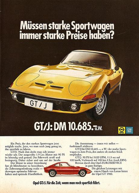Opel GT/J (1971)  by jens.lilienthal, via Flickr