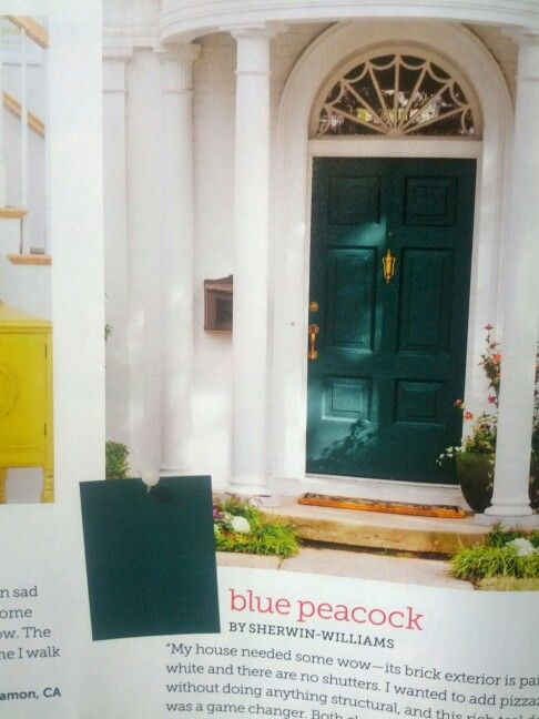 Quot Blue Peacock Quot Colored Paint By Sherwin Williams Could Do