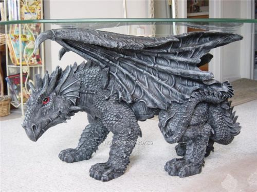 Dragon Coffee Table Gothic Gargoyle Monster Witchcraft House Home Decor