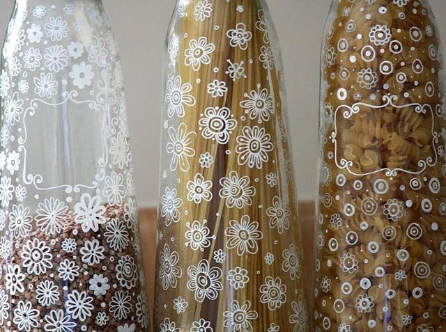 verre décoré