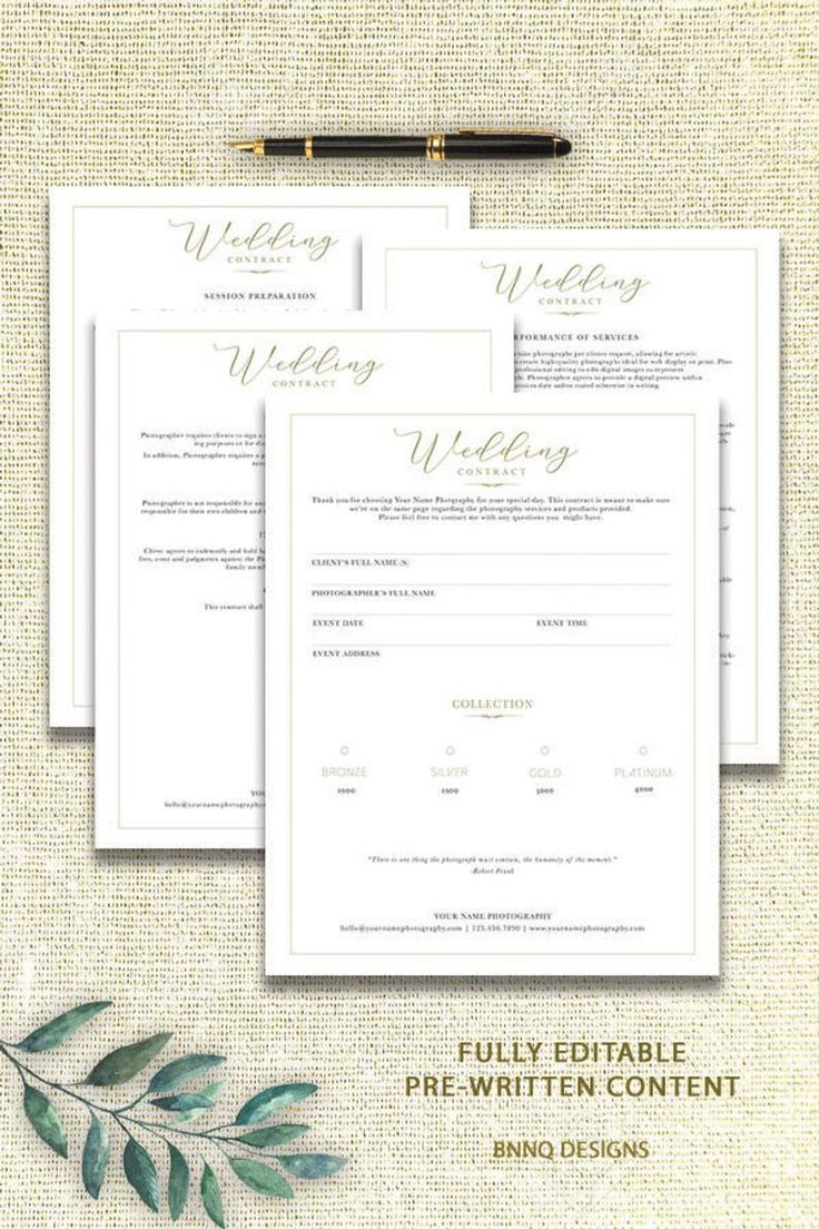 Client Contract Photography Template Wedding Contract Form Etsy Wedding Photography Contract Photography Contract Wedding Photography Contract Template Contract for photography services template
