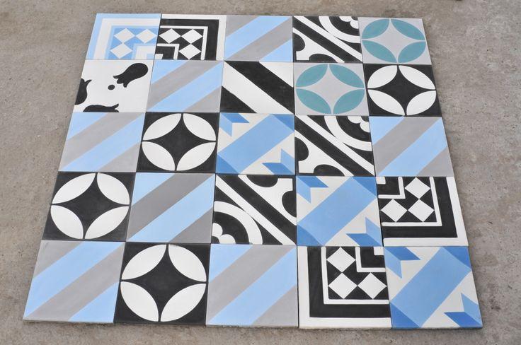 Patchwork tiles. #purpura #cementtiles
