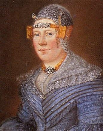 Antje Hendriks Kaat. Portret in pastel door Berend Wiertsz, ca. 1850. Collectie Zaans Museum.