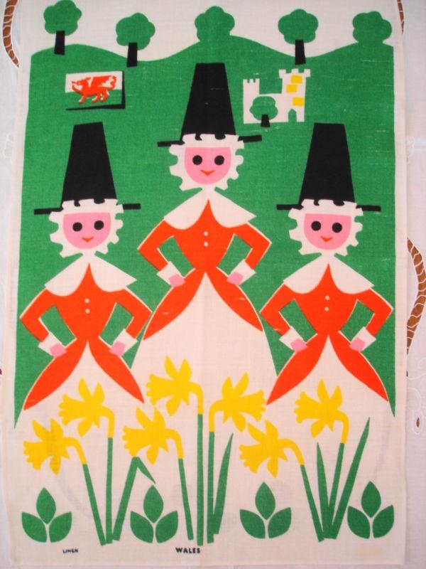Welsh girls tea-towel... love this!... so cute!