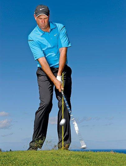 "In order to hit an accurate flop shot, slide the clubface under the ball, and have the clubhead pass the shaft at impact. According to Stewart Cink, ""It's important to set the clubface open at address (pointing right of the target), which adds more loft, and then grip the club -- in that order. You can even weaken your grip, your hands rotated toward the target; that will soften the shot even more. But the key is to open the clubface before you take your grip."" More: Flop Shot, by Stewart…"