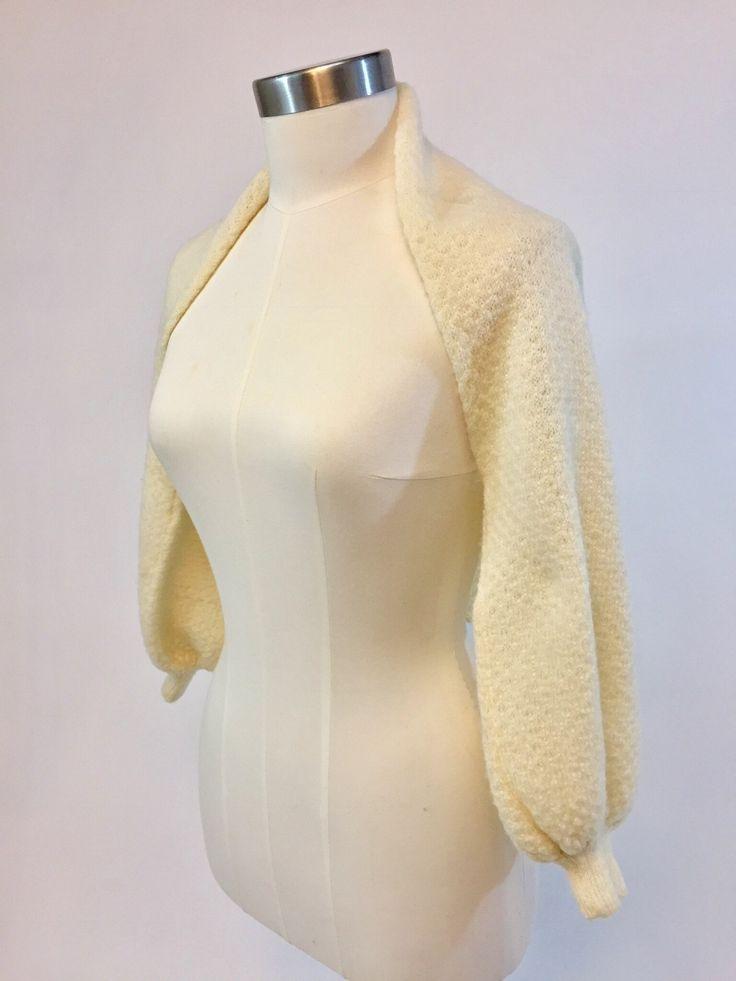 Vintage Wool Long-sleeved Shrug