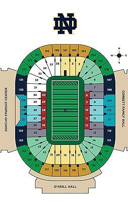 2 Notre Dame vs USC Football Tickets **NIGHT GAME**