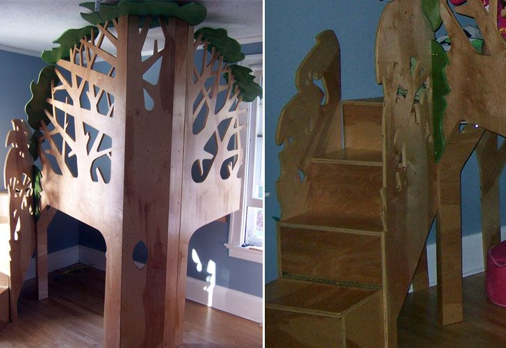 Treehouse bunk bed view this image in original size for Treehouse kids room