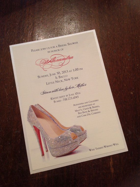 Bridal shower invitation shoe theme by theweddingco on for Bridal shower email invitations