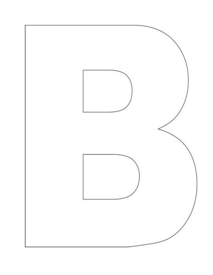 printable letter b outline print letter b alphabet letter b template homeschool letter work 570