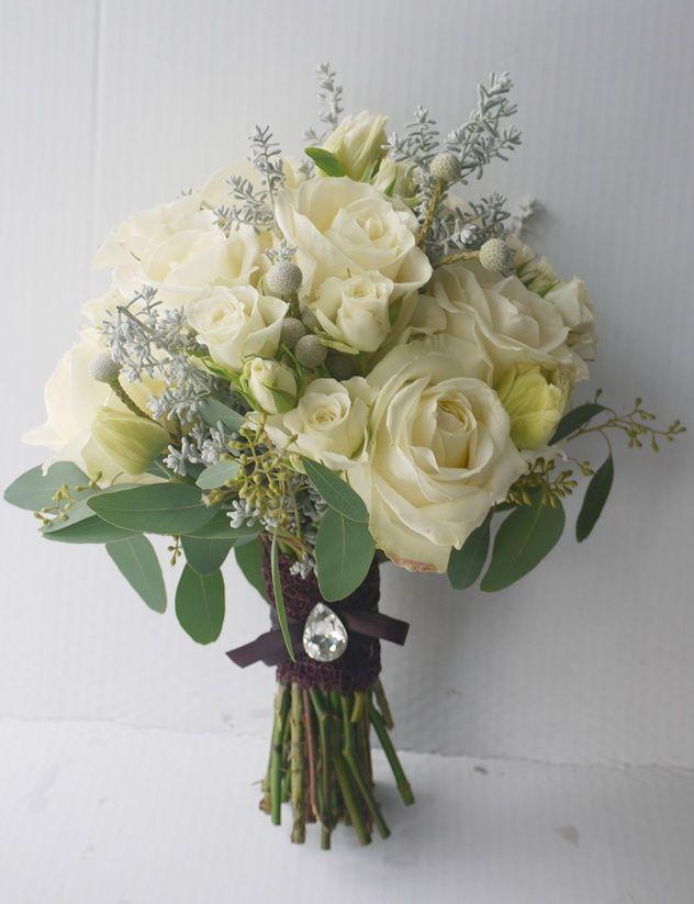 zimowy bukiet slubny  kwiaciarnia Zielona Oliwka - nasze prace