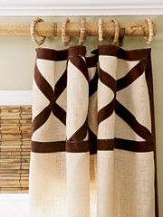 Great curtain detail for either entirely custom or ready-made panels.