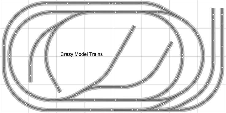 Layout #006 Bachmann HO EZ Track (NS) Nickel Silver - 4' X 8' NEW - Train Set | eBay