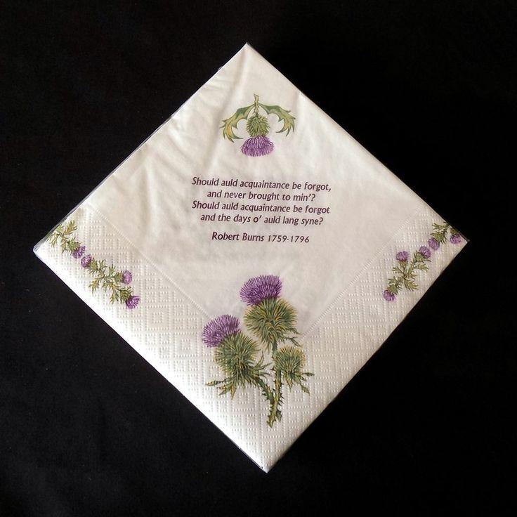 Robert Burns poems and thistles 3 ply paper 33cm napkins Pack of 20 AP2122 | Home, Furniture & DIY, Cookware, Dining & Bar, Tableware, Serving & Linen | eBay!