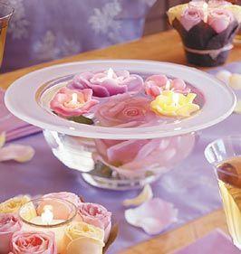 Floating flower candle centerpieceIdeas, Wedding Receptions, Floating Candles, Candles Centerpieces, Wedding Tables Centerpieces, Wedding Centerpieces, Flower, Center Piece, Tables Decor