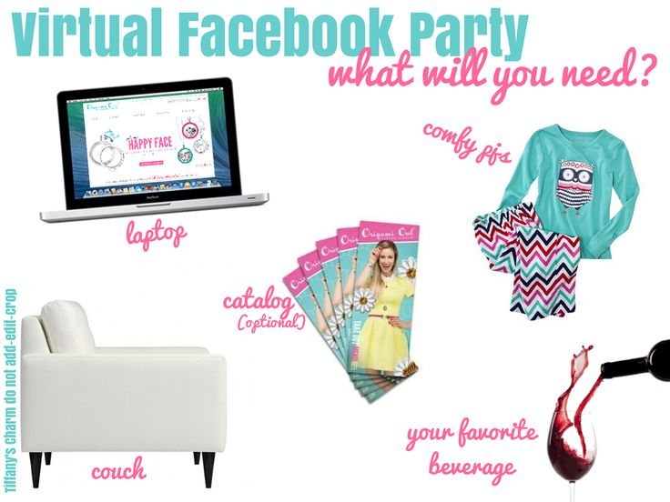 OrigamiOwl Virtual Facebook Party Graphic Online Party