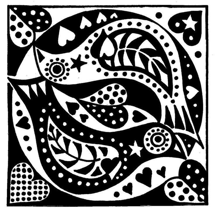black and white lovebirds