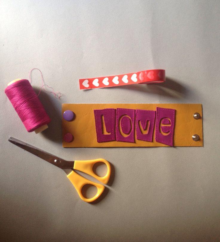 A personal favorite from my Etsy shop https://www.etsy.com/listing/468075310/love-braceletpunk-rock-lovelove