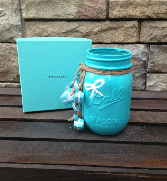 A Tiffany's inspired Ball Mason Jar for sale!