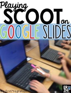 How to use Google Slides to play Scoot! Students move from computer to computer completing tasks on each computer as they go. Technology integration & movement! Plus icebreaker games for back to school.