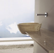 Clever vanity top with basin! Travertine counter top washbasin FORO  LANTIC  COLONIAL