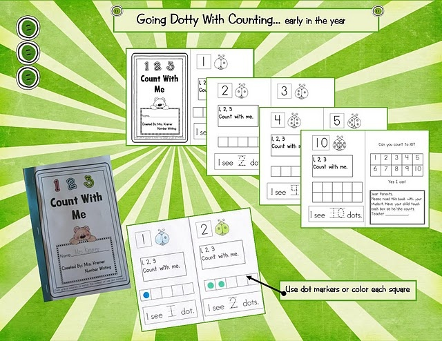 Math freebies from Kindergarten Crayons including dot cards, numbers map, math talk cards, memory game, number writing practice and many more.