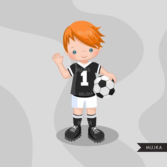 Soccer Clipart Sport Graphics Boys Soccer Player Characters Commercial Use Kids Scrapbooking Worldcup Chores Boneca Desenho Imagem Crianca Desenho De Menino
