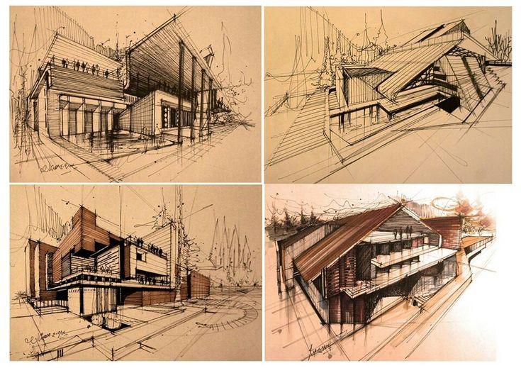 132 besten architektur bilder auf pinterest architektur - Architektur zeichnen ...