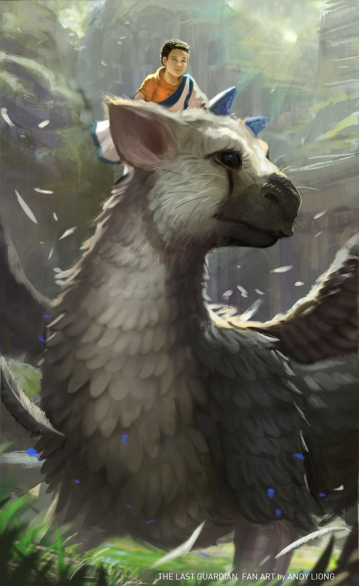 The last Guardian - Fan Art , Andy Liong on ArtStation at https://www.artstation.com/artwork/yXVV3