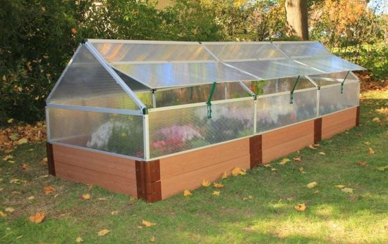 Orman 4 x 12 x 12 Raised Garden Bed with Greenhouse- transform for smaller raised area along back fence