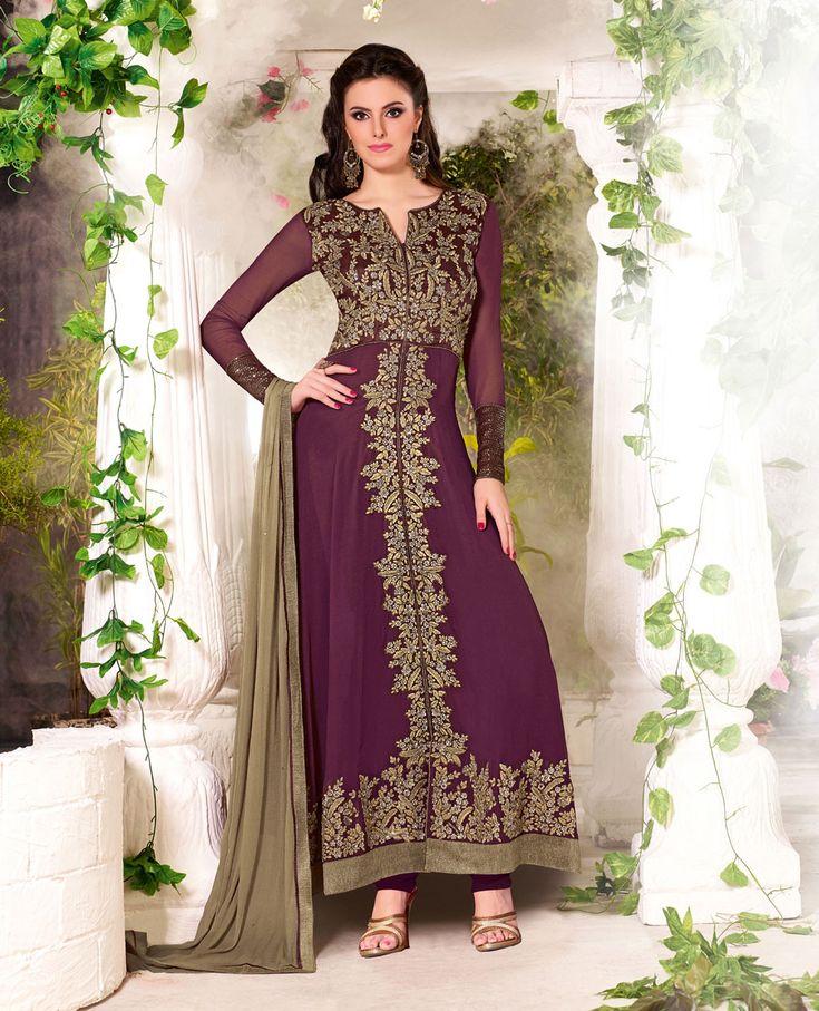 Purple Georgette Designer Anarkali Suit 61646