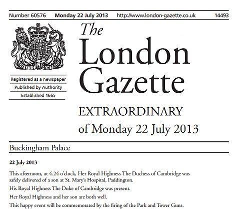 As 25 melhores ideias sobre The London Gazette no Pinterest – Gazette Birth Announcements
