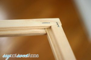 Picture Frame Tutorial