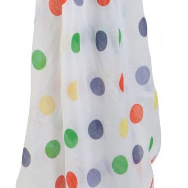 Mussolina in cotone biologico ideale per avvolgere, proteggere e asciugare il neonato. Missura 120x120 cm