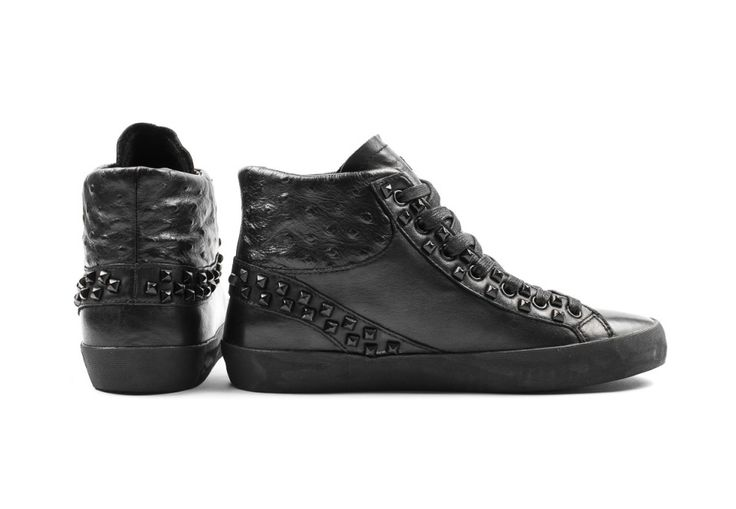 Crime london sneakers nere borchiate immagini
