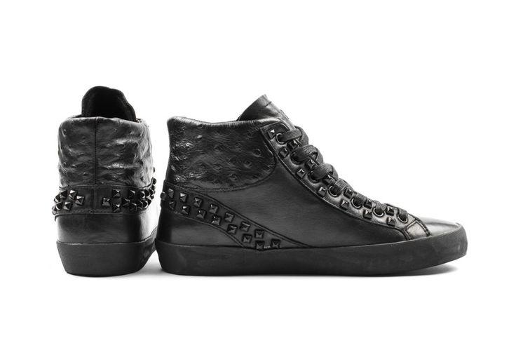 Crime london sneakers nere borchiate immagini
