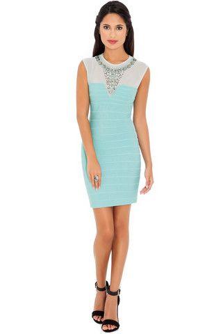 Jessica Embellished Neck Dress – Juicy Secrets